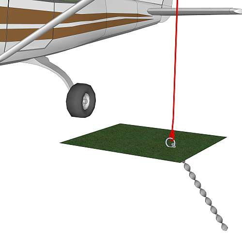 Cessna 172 anchored with Groundbolt AT type anchor