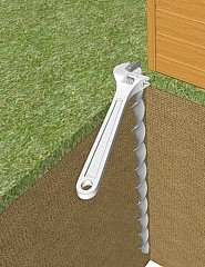 Ground anchors for hammering in - no concrete needed