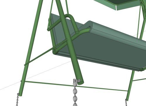 2 seat swing secured with Erdanker anchors