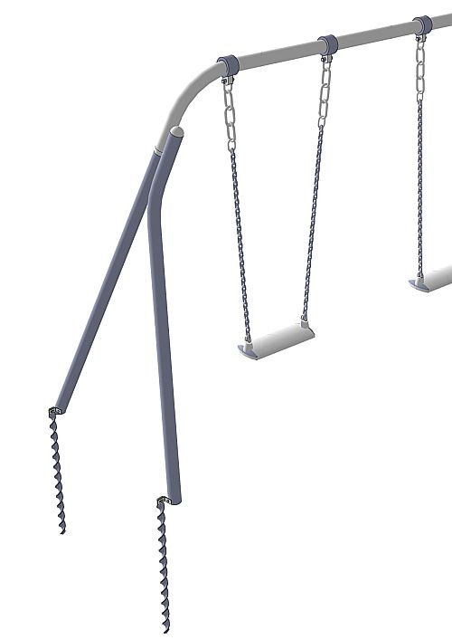 Metal swing with 40x680ED anchors